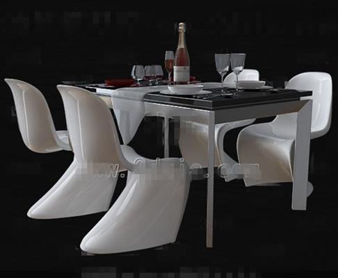 Personalized white dinette combination