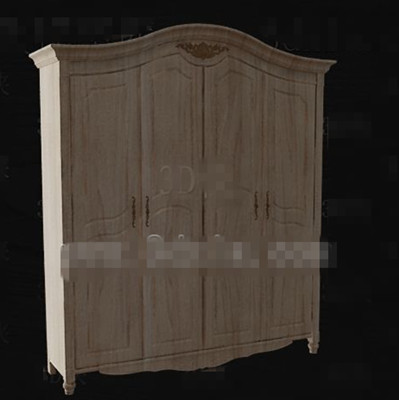 European style full-wood wardrobe