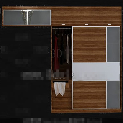 simple bedroom wardrobe combination