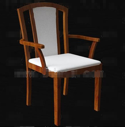 White fabric cushion wooden chairs