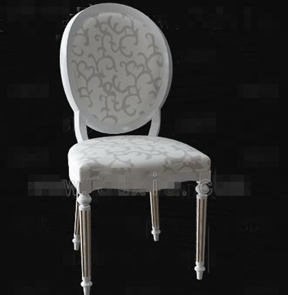 White fabric wooden chair