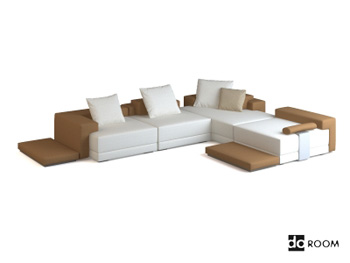 Modern simple style corner sofa model