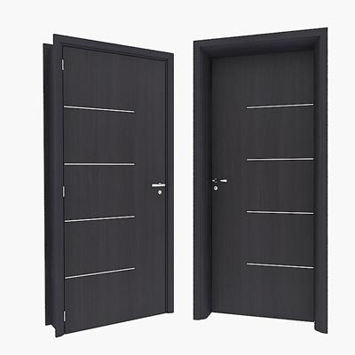 Modern dark solid wood door