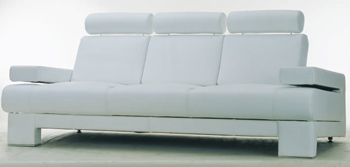 European style white simple sofa