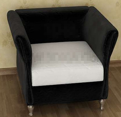 Modern black and white sofa chair
