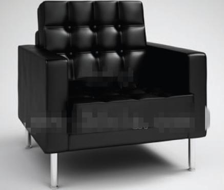 Modern style pure black sofa