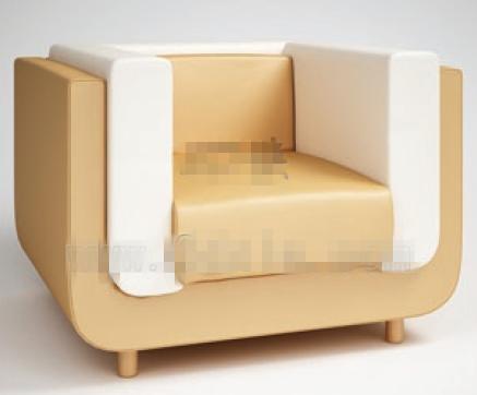 Modern style white single sofa