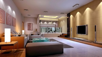 Modern generous stable design living room