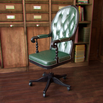 Green Simple Classic Boss armchair