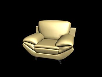 European single sofa 3D Model