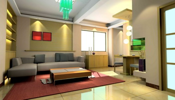 Modern small-space living room