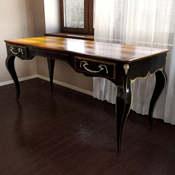 Old-style classic table 3D model