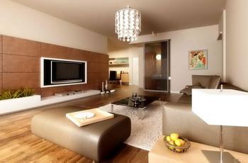 Modern simple and elegant living room Free Download