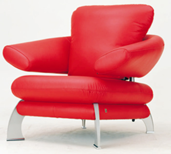 European-style modern red single sofa