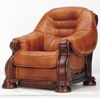 Modern brown wooden single sofa