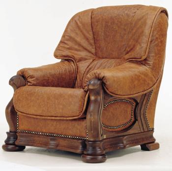 Modern brown single sofa