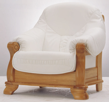 European-style white sofa 3D Model