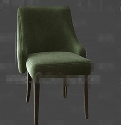 Fashion dark green fabric chairs