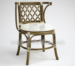 White hollow wicker chair