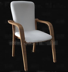 White fabric comfortable chair