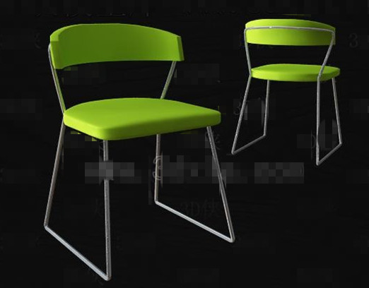 Bright green fashion simple chair