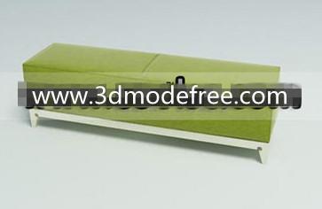 Green wooden fabric sofa bench