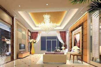 Modern golden warm tone living room Free Download