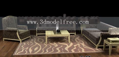 Wood cloth soft sofa combination