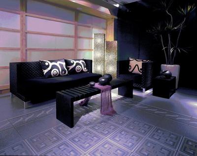 Dark color sofa 3D model