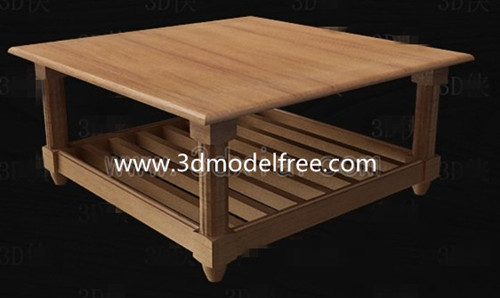 Square wooden tea table