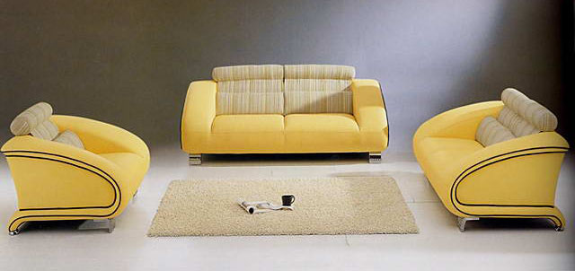 European yellow sofa combination