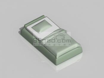 Green bed 3D model