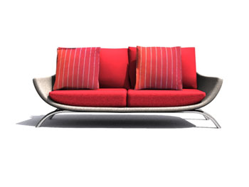 European red sofa