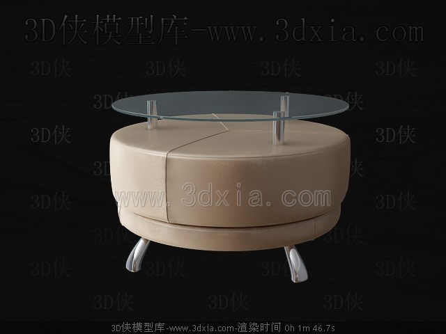 Round glass tea table