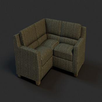 Dark corner sofa model