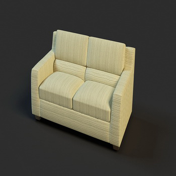 Light comfortable double sofa
