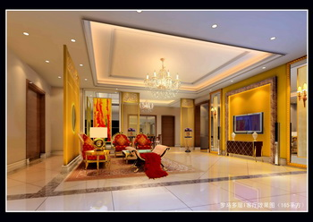 Warm luxurious bright living room