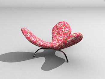Personality petal shape sofa