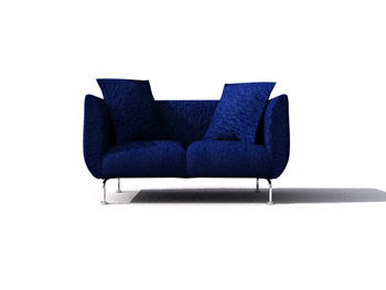 Modern navy blue double sofa