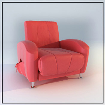 Rosy individual single sofa model