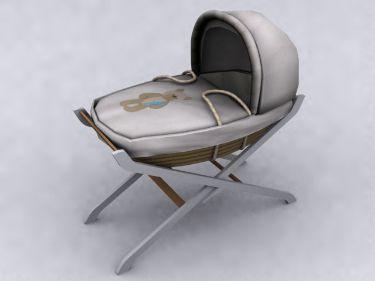 Fixed pattern of the original eco-cartoon Baby Crib
