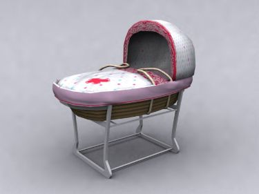 Red fixed Baby Crib