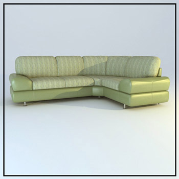 Light green corner sofa