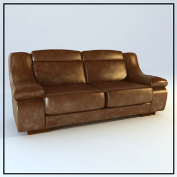 Dark double sofa