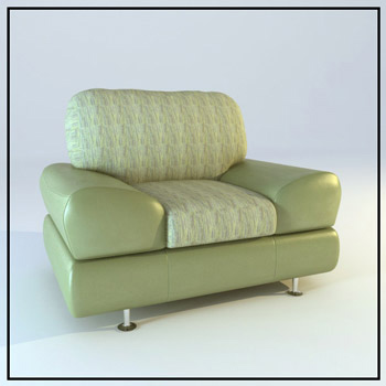 Single bright green sofa