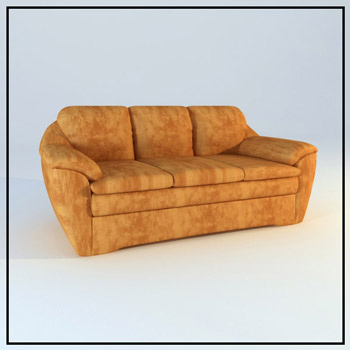Brown Leather sofa model for many people