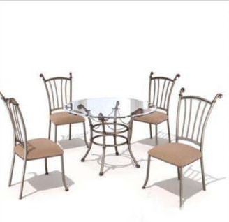 Four-bit casual combination of tables and chairs