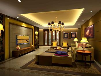 Modern calm atmosphere living room