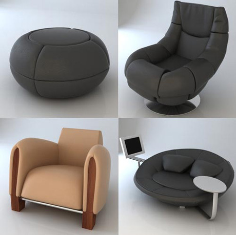 High-end 3D seat model