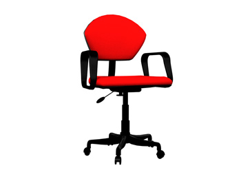 Fashion red swivel chair